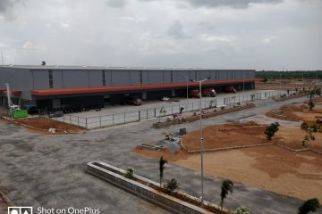Logistics park with truck parking